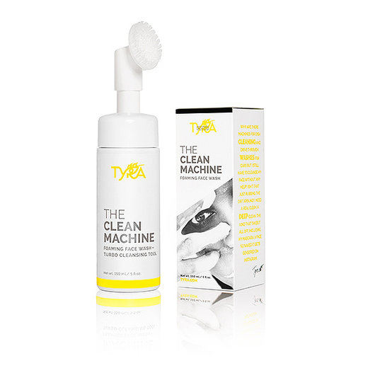 Tyra Beauty The Clean Machine Foaming Face Wash + Turbo Cleansing Tool, $29; tyra.com